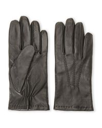 BOSS - Black Hutchs Leather Tech Gloves for Men - Lyst