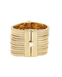 Lanvin   Metallic Art Deco Gold Tone Cuff   Lyst