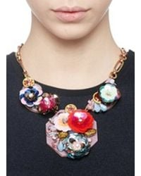 J.Crew | Multicolor Blooming Sequin Paillette Bib Necklace | Lyst