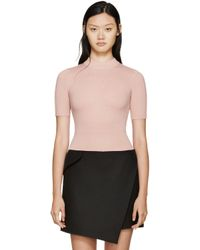 Carven - Pink Wool Sweater - Lyst