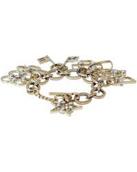 Lanvin - Metallic Gold-Tone 125 Charms Bracelet - Lyst