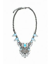 Missguided - Gray Statement Gem Necklace Ice Grey - Lyst