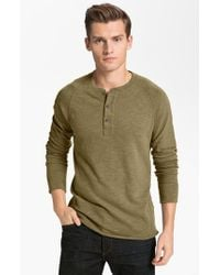 Rag & Bone - Green Raglan Henley for Men - Lyst