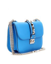 Valentino - Blue Lock Leather Shoulder Bag - Lyst