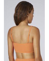 TOPSHOP - Orange Bright Coral Longline Bikini - Lyst