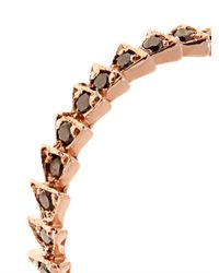 Tilda Biehn | Metallic Trace Black-Diamond & Rose-Gold Ring | Lyst