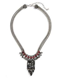 Natasha Couture | Metallic 'Deco Dagger' Crystal Statement Necklace | Lyst
