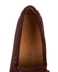 Tod's | Red Ferrari Penny Driving Shoe for Men | Lyst