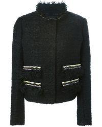 Giambattista Valli - Black Chain-Detail Fitted Jacket  - Lyst