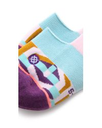 Stance - Super Invisible Labyrinth Socks - Pink - Lyst