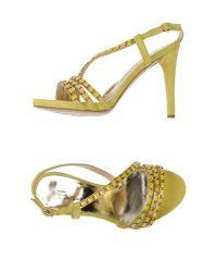 Emanuela Passeri - Yellow Sandals - Lyst