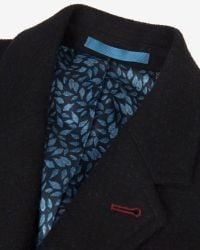 Ted Baker | Blue Gains Wool Ombré Overcoat for Men | Lyst