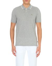 Paul Smith - Gray Regular-fit Cotton-piqué Polo Shirt, Men's, Size: Xs, Grey for Men - Lyst