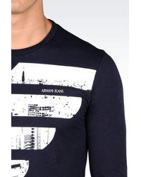 Armani Jeans - Blue Print T-shirt for Men - Lyst