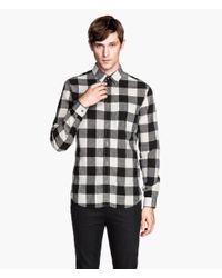 H&M - Black Shirt In A Linen Mix for Men - Lyst