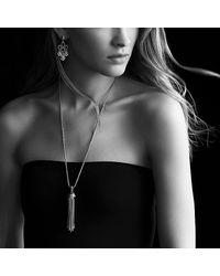 David Yurman | Metallic Sculpted Cable Chandelier Earrings With Diamonds | Lyst