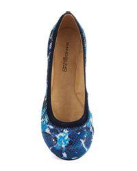 Bandolino   Blue Edition Ballet Flats   Lyst