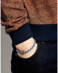 Seven London - Blue Rattan Bracelet for Men - Lyst