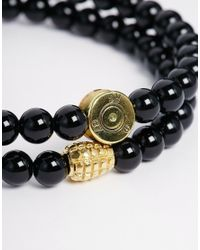 Love Bullets - Black Lovebullets Micro Onyx Bracelet In 2 Pack - Lyst