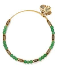 ALEX AND ANI - Green Traveler Expandable Wire Bangle - Lyst