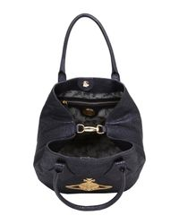 Vivienne Westwood - Black Ebury Glitter Leather Tote Bag - Lyst