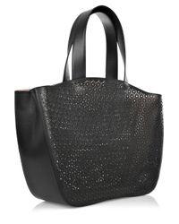 Alaïa - Black Perforated Leather Bag - Lyst