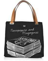 Anya Hindmarch | Black Newspapers and Magazines Tote | Lyst