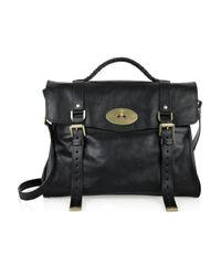 Mulberry | Black Oversized Alexa Leather Bag | Lyst