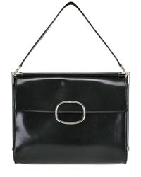 Roger Vivier - Black Patent Shoulder Bag - Lyst
