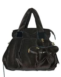See By Chloé | Black Velvet with Coin Purse Tote | Lyst