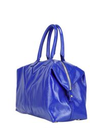 Saint Laurent - Blue Easy Medium Patent Tote - Lyst