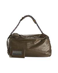 Balenciaga - Military Green Calfskin Chaine Shoulder Bag - Lyst