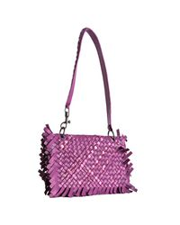 Bottega Veneta | Purple Violet Woven Leather Paille Tie-dye Flap Shoulder Bag | Lyst