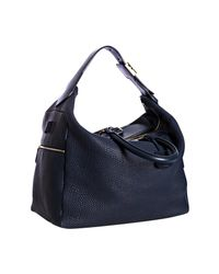 Céline | Blue Pebbled Leather Large Convertible Hobo | Lyst