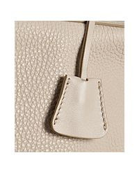 Céline - White Cream Pebble Leather Small Boston Bag - Lyst