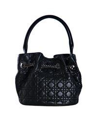 Dior - Black Quilted Lambskin Chri-chri Bucket Bag - Lyst