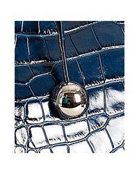 Furla - Dark Blue Croc Embossed Leather Giselle Tote - Lyst