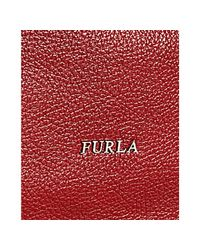 Furla | Red Pebble Leather Salome Hobo | Lyst
