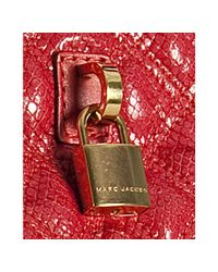 Marc Jacobs   Red Coral Quilted Leather Small Leon Tote   Lyst