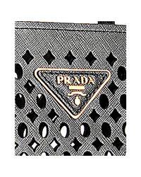 Prada - Black Cut-out Saffiano Shopping Tote - Lyst