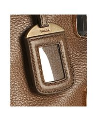 Prada - Brown Deerskin Jeweled Medium Satchel - Lyst