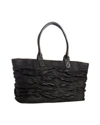 Sondra Roberts | Black Woven Leather Cameron Tote | Lyst
