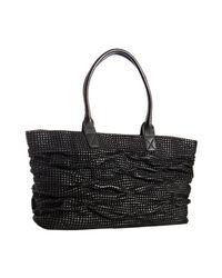 Sondra Roberts - Black Woven Leather Cameron Tote - Lyst