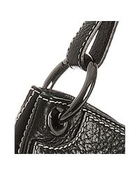 Moschino - Black Pebble Leather Shoulder Strap - Lyst