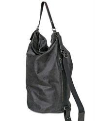 Ai_ - Black Waxed Calfskin Elephant Print Shoulder Bag - Lyst