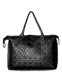 Gareth Pugh - Black Lamb Embossed Big Shopper Tote - Lyst