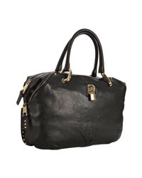 Marc Jacobs | Black Paradise Gold Studded Rio Top Handle | Lyst