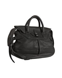 Balenciaga | Black Leather Neo Classic Top Handle Bag | Lyst