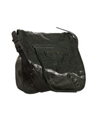 Balenciaga - Dark Green Goatskin Besace Flap Messenger Bag - Lyst