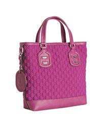Gucci | Pink Fuchsia Neoprene Gg Techno Tag Tote | Lyst